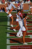 When OU scores, the cheerleaders go to the end zone and do a backflip roll-off