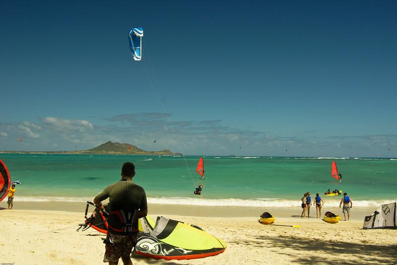 Windsurfing in Kailua-76