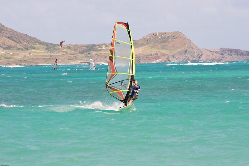Windsurfing in Kailua-42