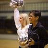 Oakland Raiderettes cheer director, Jeanette, looks on during the SCIS cheer workshop. Photo credit: Jen Marshall