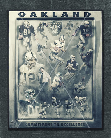 Oakland Raiders Poster - Raider Legends