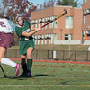 Maddie Moran of Oakmont fires a shot on net in the Div II field hockey Championship game.  SENTINEL & ENTERPRISE / Jim Marabello