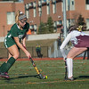 Maddie Moran of Oakmont moves in towards net in the Div II field hockey Championship game.  SENTINEL & ENTERPRISE / Jim Marabello