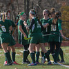 Oakmont players react after going up 1-0 on Quabog in the Div II field hockey Championship game.  SENTINEL & ENTERPRISE / Jim Marabello