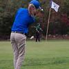 Lunenburg 8th grader Emily Nash putts her ball one stroke closer to the hole against Oakmont on Monday. SENTINEL & ENTERPRISE / KYLE DAUDELIN