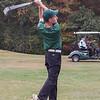 Oakmont Junior Zach Girouard aims down the green Monday afternoon against Lunenburg High. SENTINEL & ENTERPRISE / KYLE DAUDELIN