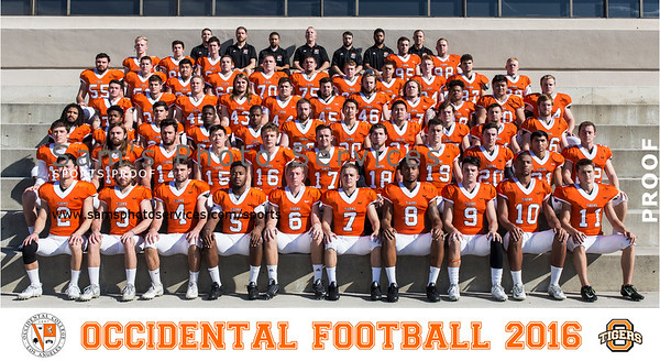2016 Occidental Football Team Portraits