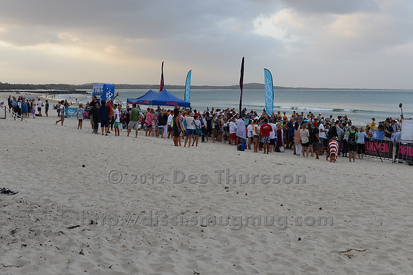 Late Friday Afternoon Vista - 2012 Eyeline 1000 Noosa Ocean Swim, Noosa Heads, Sunshine Coast, Queensland, Australia. Camera 1. Photos by Des Thureson. - The images in this gallery have not been edited / cropped. If you purchase* a print or download, these images will be edited / corrected / cropped before being sent out. *Ordering will be via disci.photoshelter.com or via email. Thanks, Des.