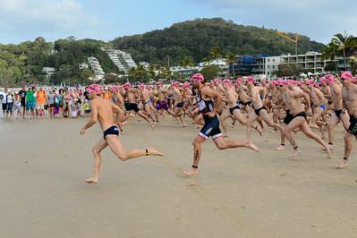 "Start - ""GO!"" - 2012 Eyeline 1000 Noosa Ocean Swim, Noosa Heads, Sunshine Coast, Queensland, Australia. Camera 1. Photos by Des Thureson."