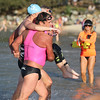 Assisting a Swimmer with a Disability - 2017 ARENA Noosa 1000 Ocean Swim - Swim Finish, Race Finish