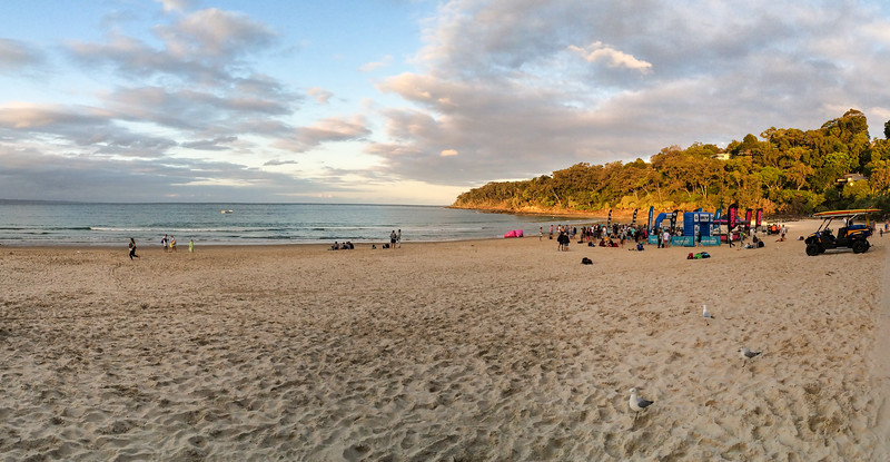 Phone picture - Noosa Main Beach & Laguna Bay - Panorama - Noosa Heads, October 2015 - misc and phone pics.