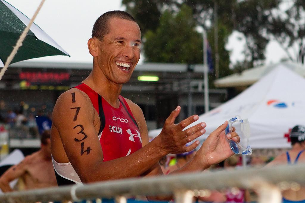Australian Champion Ironman and ITU Triathlete Chris McCormack - 2011 Noosa Ocean Swim, Main Beach, Noosa Heads, Sunshine Coast, Queensland, Australia.