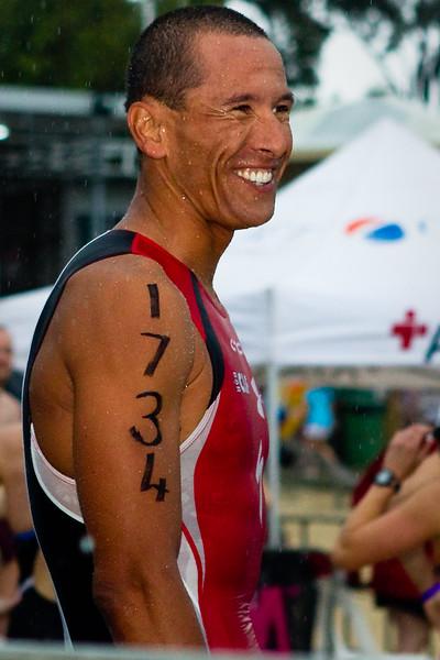 "Australian Champion Ironman and ITU Triathlete Chris McCormack  (@MaccaNow on Twitter)- 2011 Noosa Ocean Swim (""Noosa Eyeline 1000""), Main Beach, Noosa Heads, Sunshine Coast, Queensland, Australia; Friday 28 October 2011. Photos by Des Thureson."