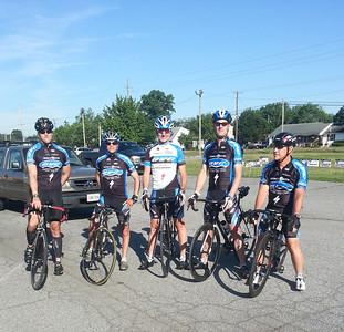 Laurel Bike and Brew: Jeff, Phil, Kevin, Caleb, Rick