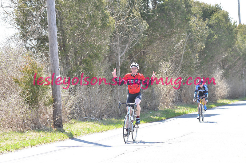 2014 All American Road Race 3/4 Masters: 2nd for Roscoe in 2 man break