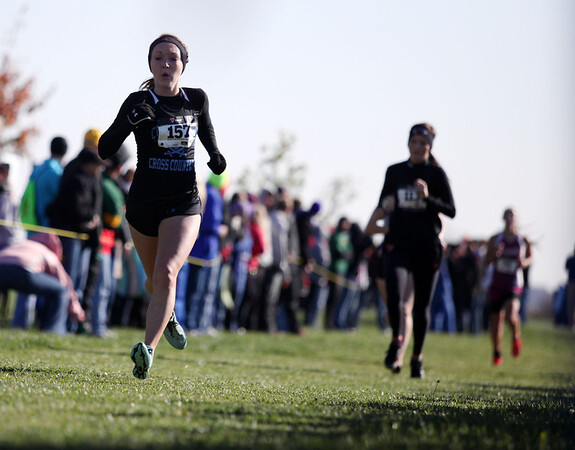 Cumberland's Leah Hutchison finished 16th in Oct. 27's cross country sectional.