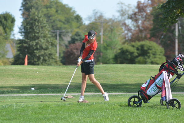 Effingham's Morgan Wilson hits a tee shot on the first hole at Effingham Country Club during the Effingham Sectional.