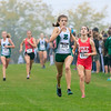 Zionsville's Annie Pappas comes down the home stretch at the IHSAA Regional on Oct. 15.