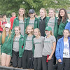 The Zionsville girls cross country team poses after placing second in the HCC Meet on Saturday, Oct. 1.