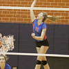 The Stars' Emma Rolf goes up for a kill against Crawfordsville on Thursday.