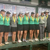 Photo by Will Willems | Times Sentinel<br /> <br /> The Zionsville girls golf team poses with their fourth-place medals on Saturday, Oct. 1 at the IHSAA State Finals.