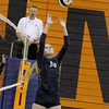 Tri-West setter Molly Gibbs sets to a teammate on Tuesday in the Bruins' win over Lebanon.