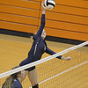 The Bruins Skylar Jobe goes up for a kill against Lebanon.