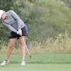 Claire Edwards takes a shot from the fairway at the IHSAA State Finals.