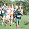 Michael Prier leads a pack early in Saturday's Ben Davis Sectional. Prier placed sixth in a time of 16:34.42.