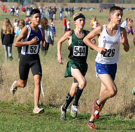 Photo courtesy of Zionsville boys cross country<br /> <br /> Zionsville's Andrew Stuff competes at the IHSAA Semi-State at Shelbyville on Oct. 22.