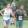 Zionsville's Evan Tate Browning races down the home stretch of the HCC Meet on Saturday, Oct. 1.