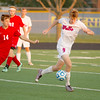 Photo by Cory Seward | For the Lebanon Reporter<br /> <br /> Western Boone's Keller Wilkinson controls the ball past a Mountie player on Wednesday.