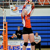 Newton's Grace Hartrich sets the ball during a match against Paris.
