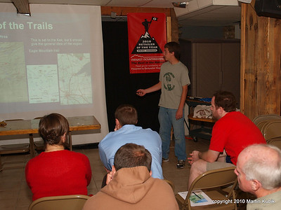 Joey explains the objectives of the mission and how to get to the trail.