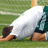 10-1-12 <br /> Boys Sectional Soccer<br /> Eastern HS vs Eastbrook HS<br /> Eastern's Andrew Kerner after missing a shot.<br /> KT photo | Tim Bath