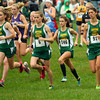 10-2-12<br /> Eastern runners in the Cross Country MIC at Oakbrook Valley Park.<br /> Brittany Neeley, Bethany Neeley, Carly Jones, Sarah Wagner and Avery Ewing starting the girls race.<br /> KT photo | Tim Bath