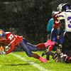 10-5-12 <br /> Kokomo HS vs Marion HS Football<br /> Michael Copeland making it through the line to fall short of a first down in the 2nd quarter.<br /> KT photo   Tim Bath