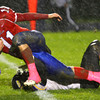 10-5-12 <br /> Kokomo HS vs Marion HS Football<br /> Quarterback Tayler Persons running in for a first down in the 2nd quarter.<br /> KT photo   Tim Bath