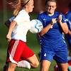 10-4-12<br /> Kokomo HS vs Logansport soccer<br /> Whitney Jennings of Logansport and Breanna Kinder of Kokomo High School both try to gain posession of the ball during Thursday's soccer game.<br /> KT photo | Kelly Lafferty