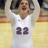 10-18-12<br /> Maconaquah Volleyball<br /> Maconaquah's Michaela Walters sets the ball during the game against West Lafayette on Thursday night.<br /> KT photo   Kelly Lafferty