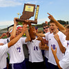 10-12-13  --- Sectional Boys Soccer - NWHS vs Tipton HS   ---  Northwestern HS soccer players accept and hold up the sectional trophie after they beat Tipton 9-0 Saturday.<br />   KT photo | Tim Bath