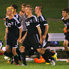 10-7-13  --- Sectional Boys Soccer - WHS vs KHS  - Wester bench after winning the game running out to the rest of the team. Western won 1-0.<br />   KT photo | Tim Bath