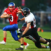 10-4-13<br /> Kokomo vs. Logansport football<br /> Kokomo's Bo Baker tries to get away from Logansport's L. Jacob Brown.<br /> KT photo | Kelly Lafferty