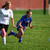 10-2-13<br /> Kokomo vs. Western girls soccer<br /> Western's Bre Buckalew and Kokomo's Katelyn Van Horn<br /> KT photo | Kelly Lafferty