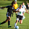 10-10-13<br /> Eastern vs. Sheridan soccer<br /> Sheridan's Brittany Welch and Eastern's Elena White<br /> KT photo | Kelly Lafferty