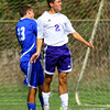 10-12-13  --- Sectional Boys Soccer - NWHS vs Tipton HS --  Tipton's Jake Tragesser and NW's Blaine Brutus going after a ball.<br />   KT photo | Tim Bath