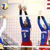 10-1-13<br /> Kokomo vs. Tri Central volleyball<br /> Kokomo's Alanis Jones and Brooke Smith<br /> KT photo | Kelly Lafferty