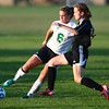 10-10-13<br /> Eastern vs. Sheridan soccer<br /> Eastern's Savannah Rees and Sheridan's Carolyn Quick<br /> KT photo | Kelly Lafferty