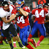 10-4-13<br /> Kokomo vs. Logansport football<br /> Kokomo's Cuba Evans<br /> KT photo | Kelly Lafferty