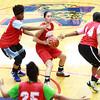 10-29-13<br /> Kokomo girls basketball practice<br /> Gabrielle Smith and Jasmine Love play defense on Haleigh Parrish during Kokomo girls basketball practice.<br /> KT photo   Kelly Lafferty